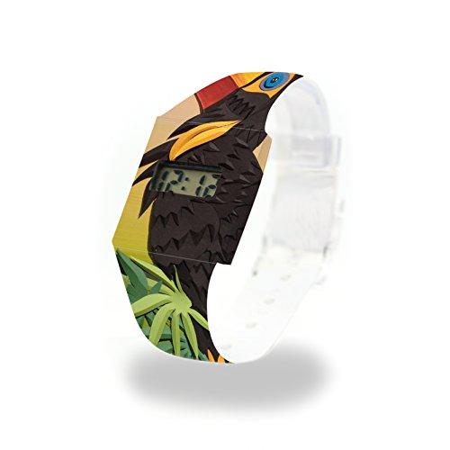 SCHNABELVOGEL - Pappwatch - Paperlike Watch - Digitale Armbanduhr im trendigen Design - aus absolut reissfestem und wasserabweisenden Tyvek® - Made in Germany, absolut reißfest und wasserabweisend