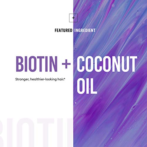 Biotin 5000 MCG - Vitamin B7 with Coconut Oil - Natural Biotin Supplement for Hair Growth, Nail & Skin Health - Vegan & Non-GMO - Skin, Hair and Nail Vitamins - 60 Capsules 3