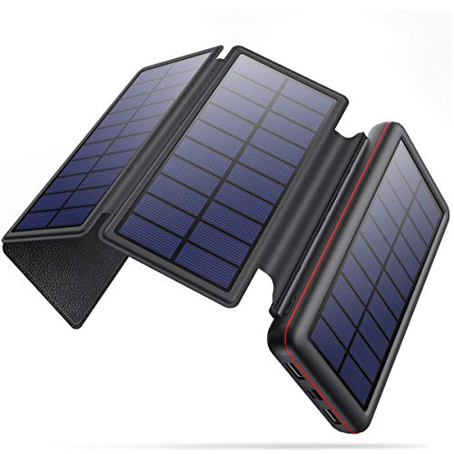 iPosible Powerbank Solare 26800mAh con 4 Pannelli...