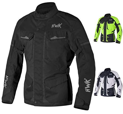 Adventure/Touring Motorcycle Jacket For Men Textile Motorbike CE Armored Waterproof Jackets ADV 4-Season Black, XL
