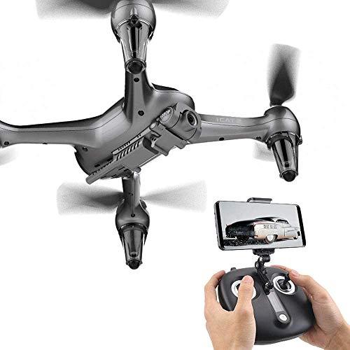 Mnjin Fotografia Aerea Portatile ad Alta Definizione, Funzionamento del Telefono Cellulare, Fotocamera WiFi FPV Quadcopter Drone con 8MP 1920P Live Video per Principianti Bambini App Mobile Contro