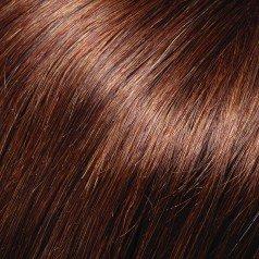 EasiFringe Clip In Bangs Color 8RN Medium Gold Brown - Easihair Renau Wigs Remy Human Hair Monofilament Base Hairpiece 1 pc Face Framing Fringe 3
