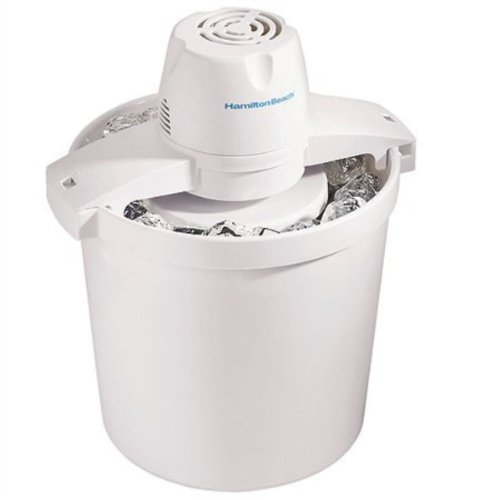 Hamilton Beach 68330N Automatic Ice Cream Maker, 4 quart, White