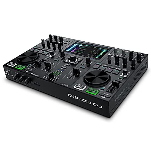 Denon DJ PRIME GO  Console DJ Smart, Set da DJ portatile con 2 deck, streaming Wi-Fi, display touch da 7 pollici e batteria ricaricabile