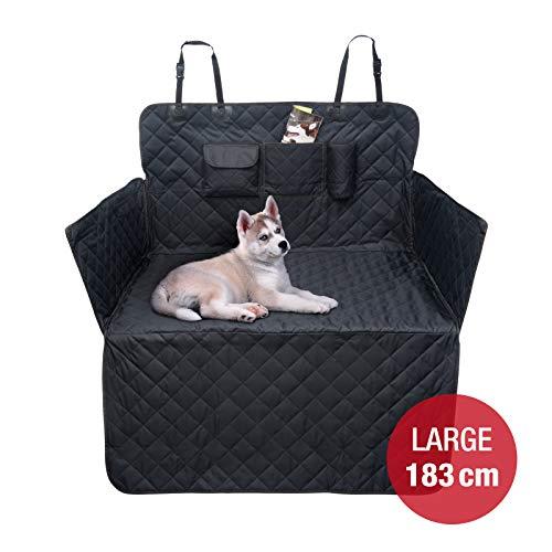 JAMAXX Auto Kofferraum Schutzdecke L/183cm Wasserdicht Waschbar Ladekanten-Schutz Seitenschutz mit Reißverschluss, große Taschen Kofferraum Universal Größe, Premium Auto Hundedecke