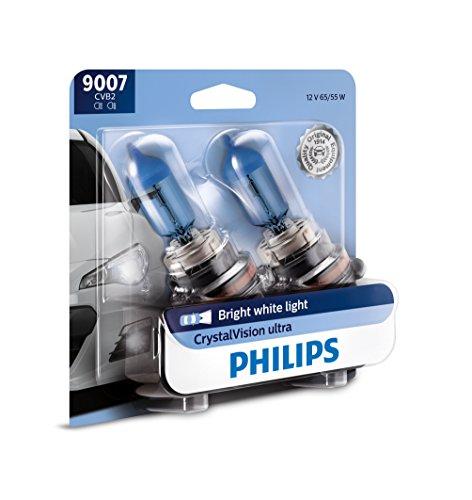 PHILIPS - 9007CVB2 Philips 9007 CrystalVision Ultra Upgrade Bright White Headlight Bulb, 2 Pack