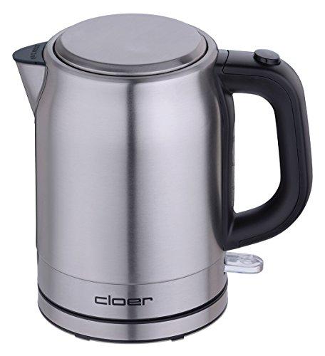 Cloer 4519 Wasserkocher 1L aus Edelstahl, 1 Liter