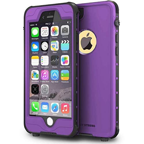 ImpactStrong iPhone 6 Waterproof Case [Fingerprint ID Compatible] Slim Full Body Protection Cover for Apple iPhone 6 / 6s (4.7') - Purple