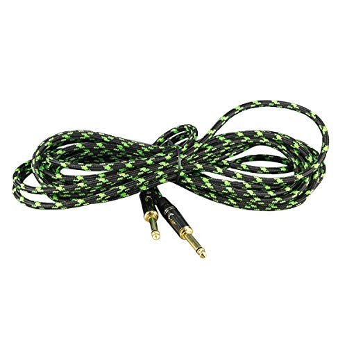 FLEOR 6 Meters/ 20 Feet Professional Guitar Instrument Cable Musical Instrument Cable Nylon Braid Cable 20AWG Oxygen free copper core