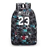 King-mely Michael Jordan 23 Mochilas Mochilas Escolares Mochilas Mochilas Bolsas De Viaje Escolares para Estudiantes Mochila para Portátil (Enrejado Azul)