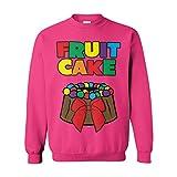 Tcombo Fruit Cake - Funny Xmas Christmas Unisex Crewneck Sweatshirt (Pink, X-Large)