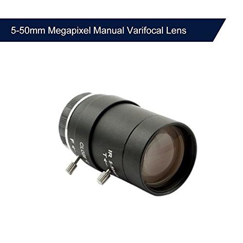 OWSOO Lenti per Videocamera 5-50mm Megapixel Messa a fuoco Manuale Zoom Varifocal CMOS/CCD 1/3' CCTV Lens IR CS Montare per CCTV Telecamera di Sicurezza (senza IR Filtro)