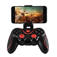 Compatible with Android(Android system without root), TV Boxes, Tablet. Bluetooth wireless transmission can be operated within 10 meters. Download supportive games (Android system without root), mobile phone connects directly without root, without ha...