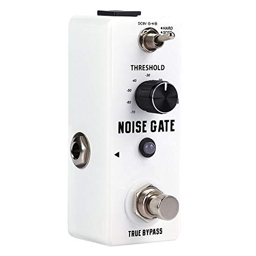 【 】Guitar Effect Pedal, Mini Metal Shell Analog Noise Gate Guitar Effect Pedal with True Bypass Instrument Accessory, Multifunction Effect Pedal