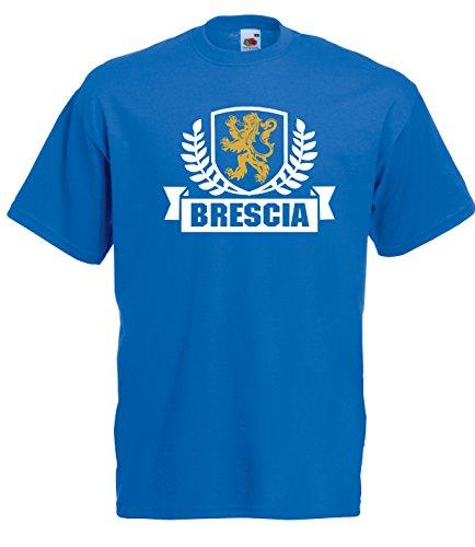 Settantallora - T-Shirt Maglietta J1768 Brescia Stemma Città d'Italia Taglia L