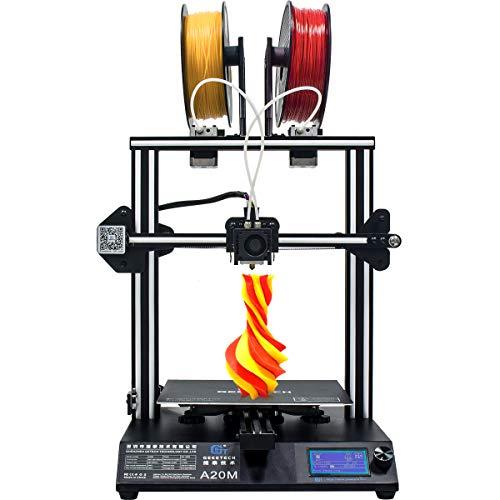 GEEETECH Neuer A20M 3D-Drucker mit Mischfarbendruck, integriertem Aufbau- und Doppelextruderdesign, Filamentdetektor und Wiederaufnahmefunktion, 255 × 255 × 255 mm³, Prusa I3 Schnellmontage-Bausatz