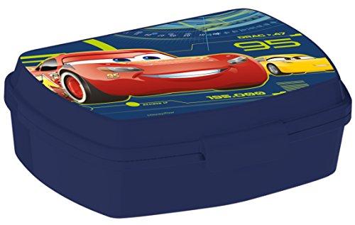 ALMACENESADAN, 0415, Sandwichera Rectangular Multicolor Disney Cars 3, 15x10x5,5 cms