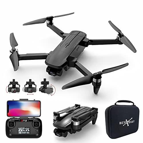 XIAOKEKE Drone con Telecamera 4K Professionale, Gimbal A 3 Assi, Droni 5Ghz WiFi FPV HD con GPS per Principianti, Quadricottero Kit Drone Professionale, Follow Me modalit