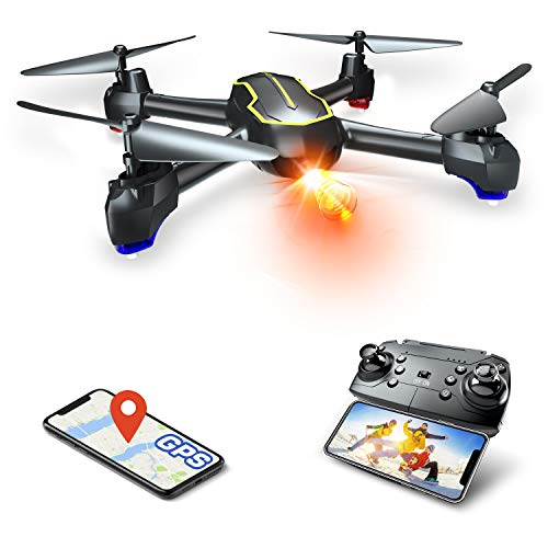 Asbww | Drone GPS con Telecamera Full HD 1080p per Bambini e Principianti - Quadricotteri RC Droni...