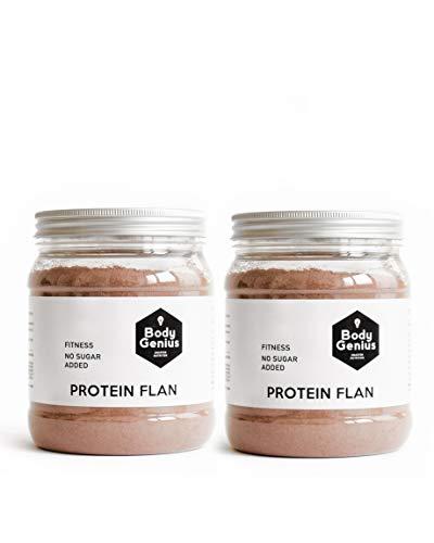 BODY GENIUS Dúo Protein Flan (Chocolate). 2x275g. Preparado