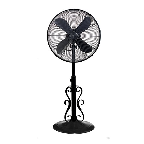 Designer Aire Oscillating Indoor Outdoor Standing Floor Fan for Cooling Your Area Fast - 3-Speeds, Adjustable 40-51 Inches in Height, Fits Your Home Decor