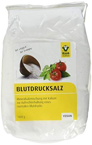 Raab Vitalfood LowNat Blutdruck Salz, vegan, Mineralsalzmischung mit Kalium zur Aufrechterhaltung von einem normalen Blutdruck, 1er Pack (1 x 1 kg Beutel)