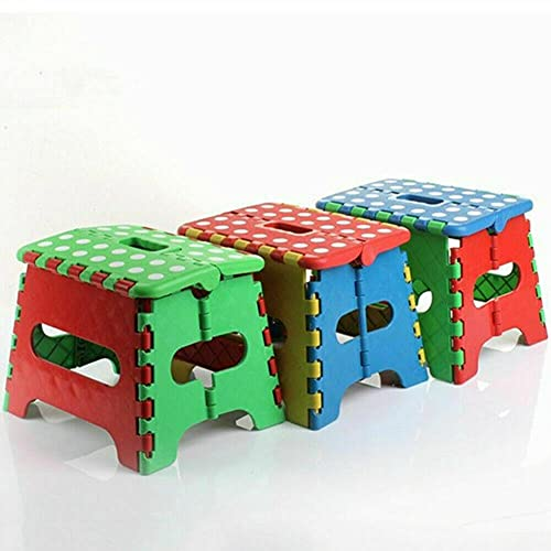 7' Collapsible Folding Plastic Kitchen Step Foot Stool w/Handle - Adults/Kids Folding Stool Camping Stool Foldable Stool Portable Stool Step Stool Folding Foldable Step Stool Folding bar Stool