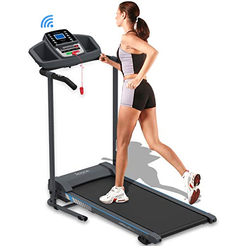 SereneLife Smart Electric Folding Treadmill – Easy Assembly Fitness Motorized Running Jogging Exercise Machine with Manual Incline Adjustment, 12 Preset Programs | SLFTRD20 Model 1