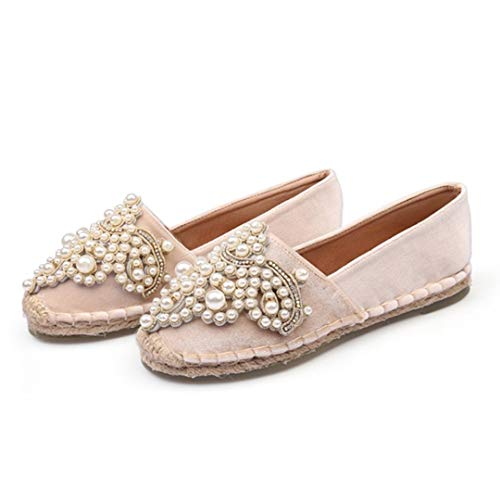 Alpargatas de Las Mujeres de Moda de Cristal de Terciopelo Mocasines Mocasines Planos resbalón Femenino en el Corte bajo Ocio Zapatos de Lona