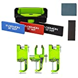 DEMON UNITED Elite X Ski Edge Care Kit and Snowboard Vise Combo Package - Includes Side Edge Multi-Tool, 3 Diamond Stones, Steel File and Gummy Stone and Your Choise of Vises (3 pc Vise Metal)