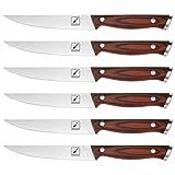 Steak Knives, imarku 6-Piece Steak Knife Set, 5Cr15Mov German Stainless Steel Premium Serrated Steak Knife with Ergonomic Handle and Gift Box