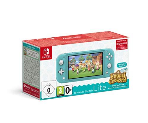 Nintendo Switch Lite Turquesa + Animal Crossing New Horizons + 3...