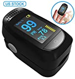 Flowmist Fingertip Oximeter Blood Measure Oxygen Saturation Monitor, Pulse PR Heart Rate Monitors and Spo2 Reading Oxygen Meter with Finger Plethysmograph and Perfusion Indicator