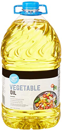 Amazon Brand - Happy Belly Vegetable Oil, 1 Gallon (128 Fl Oz)