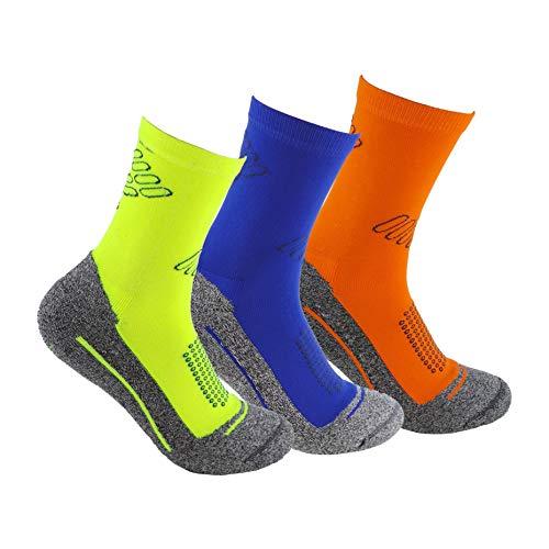 Calcetines deportivos (3 pares) SIN COSTURAS de alto rendimiento para...