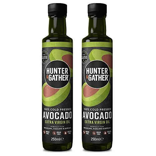 Natives Avocado-Öl – 250 ml x 2 | Kalt gepresst, nicht raffiniert | 100 % Natürliches Avocado-Öl | Vielseiteig verwendbar zum beträufeln, braten und dippen | Ohne Zucker-, Gluten oder Milchprodukte
