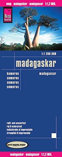 Madagascar, mapa impermeable de carreteras. Escala 1:1.200.000 impermeable. Reise Know-How. (112m)
