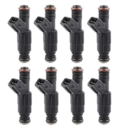 MOSTPLUS 19LB EV1 Fuel Injectors Compatible for BMW Chevy Ford Pontiac | ECU Tuning Required (Set of 8)