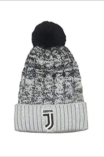 Juventus Cuffia Juve PON PON Ufficiale Cappello Berretto PONJJ01BI grigio-nero
