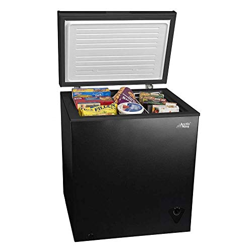5 cu ft Chest Freezer for Your House, Garage, Basement, Apartment, Kitchen, Cabin, Lake House, Timeshare, or Business