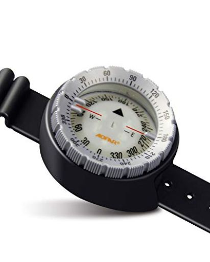 AOFAR Dive Compass AF-Q60 Waterproof, Durable, Compact. Wrist Strap Type Compass for Sailing, Diving, 11.8in Strap