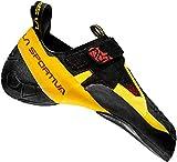 La Sportiva Men's Skwama Rock Climbing Shoe, Black/Yellow, 44.5