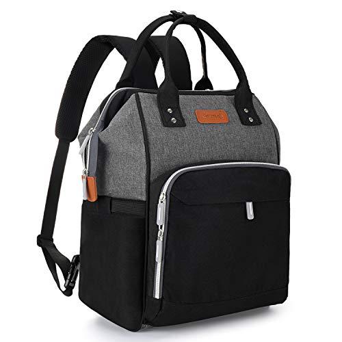 Baby Wickelrucksack Wickeltasche Große Kapazität Carecj Multifunktional Babyrucksack Reiserucksack mit USB-Ladeanschluss, Wickelunterlage, Baby-Flaschen-Tasche, Kinderwagen Haken für Unterwegs