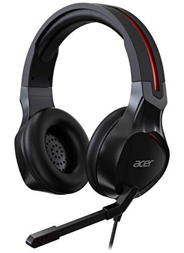 Acer Nitro Gaming Headset (anpassbares Kopfband, omnidirektionales Mikrofon, 100 dB Empfindlichkeit) rot/schwarz