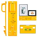 Picture Hanging Tool with Level Easy Frame Picture Hanger Wall Hanging Kit (Yellow Hanging Tool)