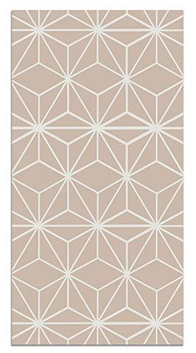 Panorama Tappeto Vinile Stelle Geometriche Rosa 60x110cm - Tappeto da Cucina Vinile Antiscivolo -...