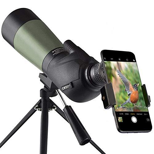 Gosky 20-60x60 HD Spotting Scope with Tripod
