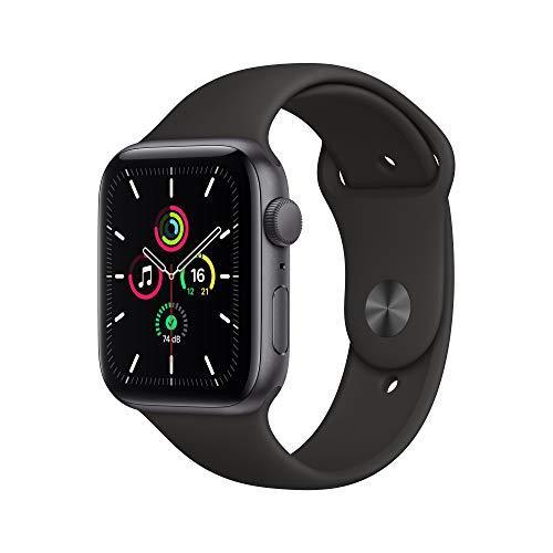 2020 AppleWatch SE (GPS, 44mm) Aluminiumgehäuse Space Grau, Sportarmband Schwarz