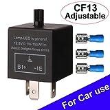 Gebildet Clignotant réglable 3Pin pour Les Clignotants de LED CF13 JL-02 EP34 Relais électronique de Clignotant 12.8V 0.1W-150W