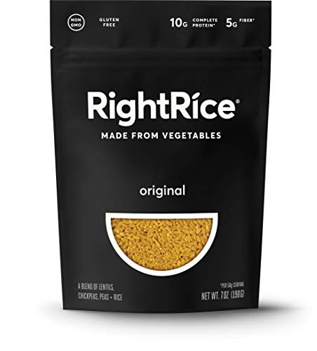 RightRice - Original (7oz. Pack of 1) - Made from Vegetables - High Protein, Vegan, non GMO, Gluten Free